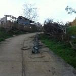 One of the houses that was destroyed in Bugabuga, the village we are working with.